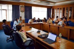 การประชุมคณะกรรมการฝึกซ้อมบัณฑิตเพื่อเตรียมเข้ารับพระราชทานปริญญาบัตรประจำปี 2560