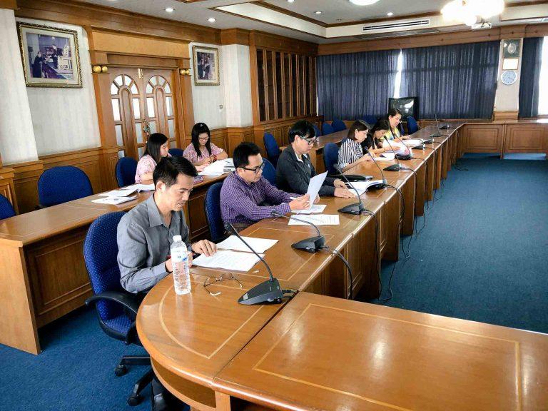 การประชุมคณะกรรมการวางแผนและพัฒนาคณะวิทยาการจัดการ ครั้งที่ 1/2561