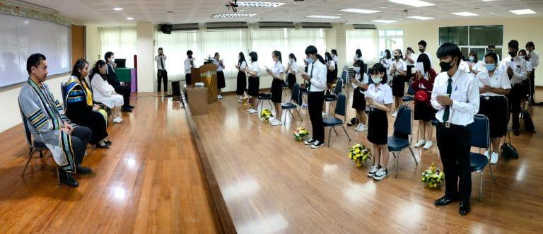 กิจกรรมไหว้ครูสาขาวิชาการจัดการธุรกิจการค้าสมัยใหม่ ประจำปีการศึกษา 2563