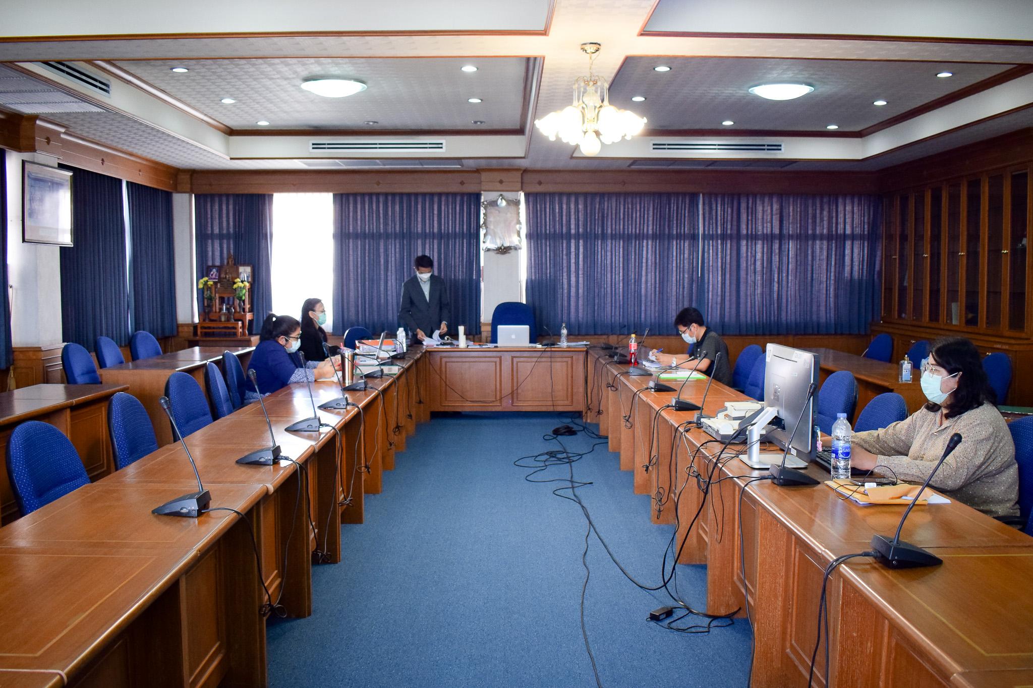 การประชุมคณะกรรมการประเมินผลปฏิบัติราชการเพื่อเลื่อนเงินเดือนบุคลากรคณะวิทยาการจัดการ ครั้งที่ 2